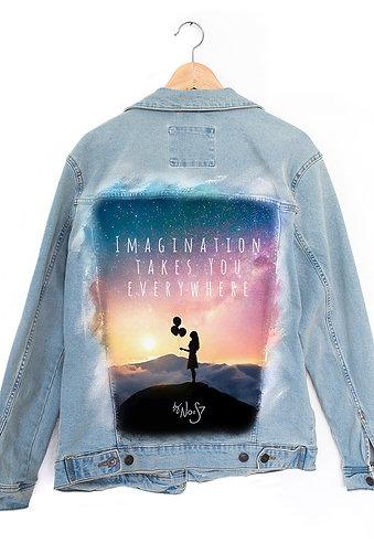 Jeans Jacket Galaxy Girl