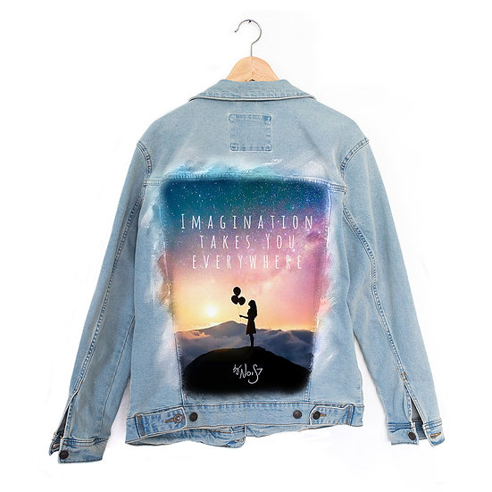 Jeans Jacket Galaxy Girl