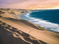ACRYLIC GLASS ON ALUMINUM BASE Namibia Ocean Desert