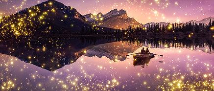 ACRYLIC GLASS ON ALUMINUM BASE Banff Fireflies
