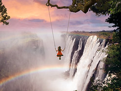 ACRYLIC GLASS ON ALUMINUM BASE Victoria Falls Swing