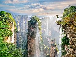 ACRYLIC GLASS ON ALUMINUM BASE Zhangjiajie Waterfalls