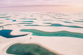ACRYLIC GLASS ON ALUMINUM BASE Pastel Lagoon Desert