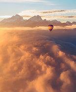 ACRYLIC GLASS ON ALUMINUM BASE Sandstorm Balloon