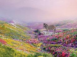 ACRYLIC GLASS ON ALUMINUM BASE Flower Zebra