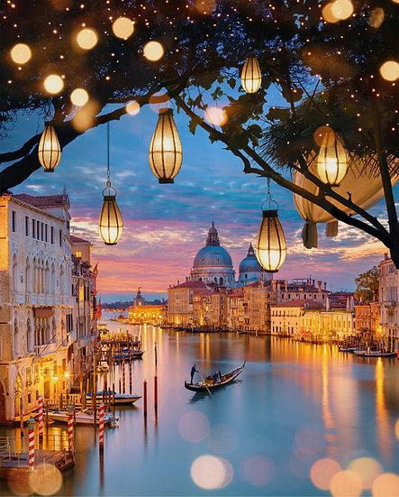 ACRYLIC GLASS ON ALUMINUM BASE Lanterns of Venice