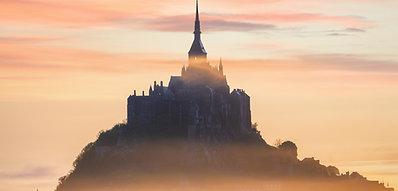 POSTER Foggy Mont-Saint-Michel