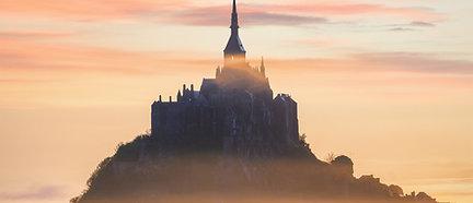 PREMIUM ALUMINUM DIBOND Foggy Mont-Saint-Michel