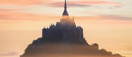CANVAS Foggy Mont-Saint-Michel