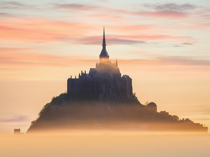 CANVAS Foggy Mont-Saint-Michel