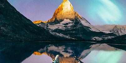 PREMIUM ALUMINUM DIBOND Matterhorn Aurora