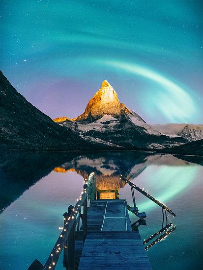 CANVAS Matterhorn Aurora