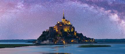 PREMIUM ALUMINUM DIBOND Starry Mont-Saint-Michel