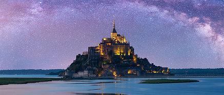 ACRYLIC GLASS ON ALUMINUM BASE Starry Mont-Saint-Michel
