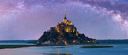 CANVAS Starry Mont-Saint-Michel