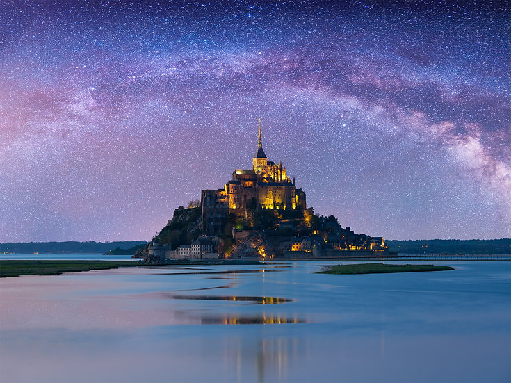 CANVAS Starry Mont-Saint-Michel