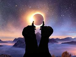 ACRYLIC GLASS ON ALUMINUM BASE Solar Eclipse