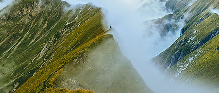 ACRYLIC GLASS ON ALUMINUM BASE Mountain Clouds
