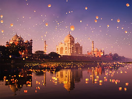 PREMIUM ALUMINUM DIBOND A Night at Taj Mahal