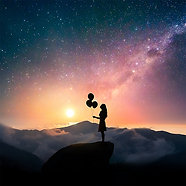 ACRYLIC GLASS ON ALUMINUM BASE Galaxy Girl