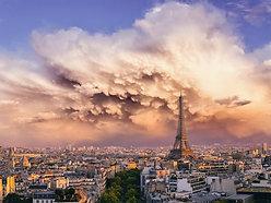 ACRYLIC GLASS ON ALUMINUM BASE Sandstorm in Paris