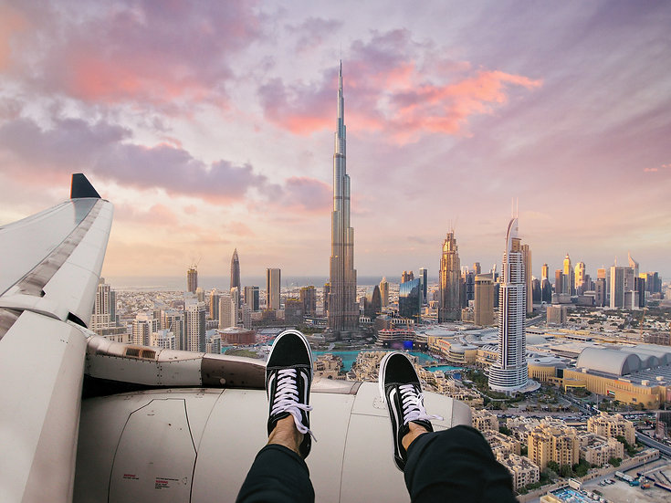 POSTER Flying above Dubai
