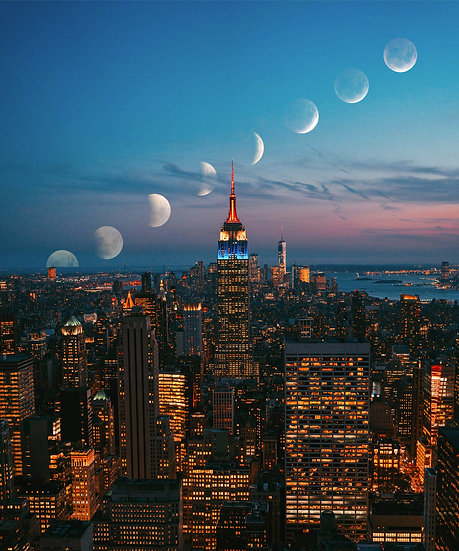 POSTER NYC Moon Walk
