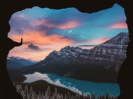 PREMIUM ALUMINUM DIBOND Moon Lake Woman