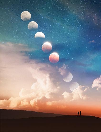 PREMIUM ALUMINUM DIBOND Climbing Moon