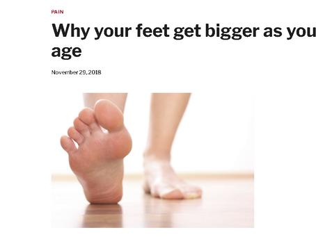 加齢とともに足が大きくなる理由