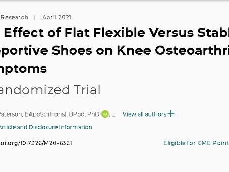 研究によると、これらの靴は膝の痛みを抑えるのに優れていることが判明