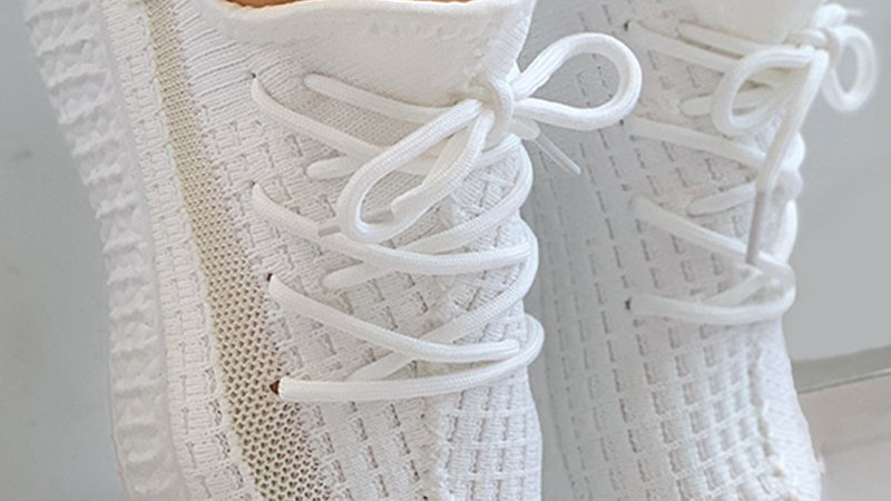 Net Surface Lace-up Casual Sneakers