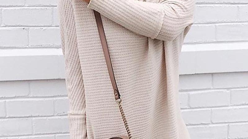Knit Casual Long Sleeve Dress