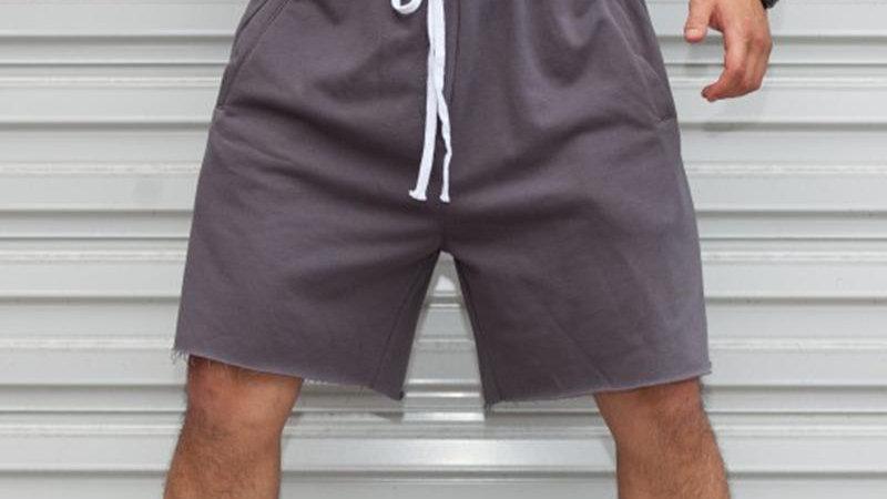Solid Drawstring Short Sports Pants