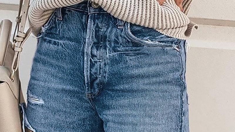 High Waists Fringe Denim Shorts