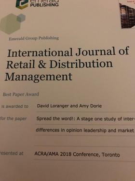 ACRA Best Paper Award