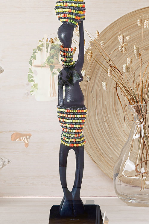 African Woman made from Real African Wood