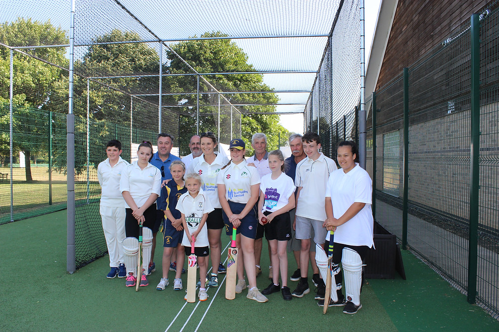 Former England captain Charlotte Edwards gives some of our juniors some coaching.