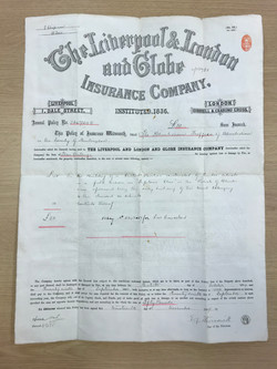 1894 Fire Insurance Policy