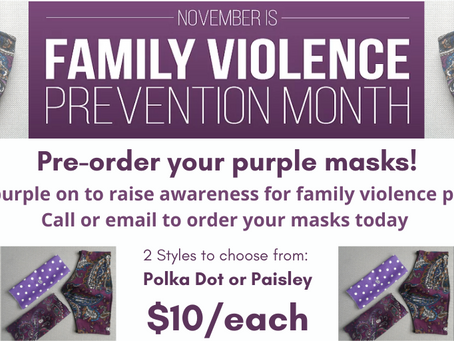 November is Family Violence Prevention Month - 2020