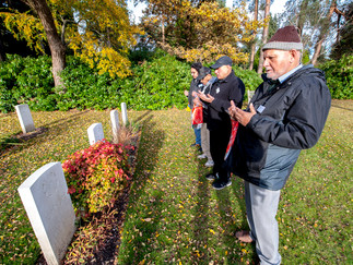 Last week Hikmat was invited by the 'Commonwealth War Graves Commission' and 'Living Memory' to expl