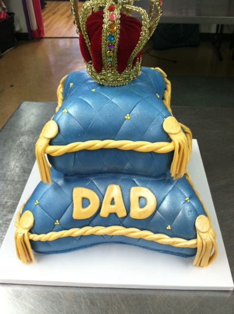 Tiered Pillow cake for Dad