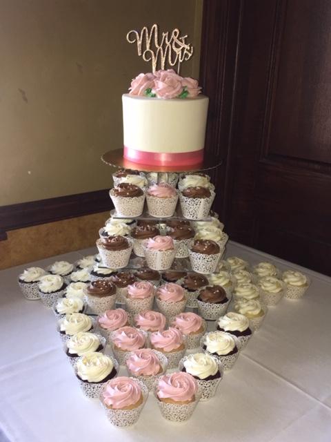 Erin & Michael cupcake tower