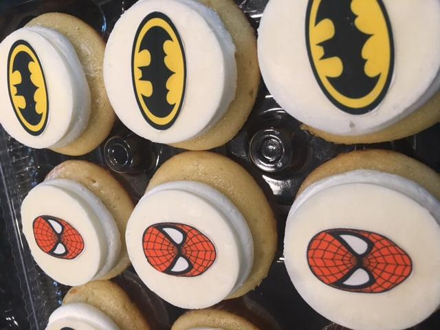 Spiderman and Batman Cupcakes