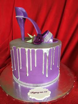 Hi Heel Shoe in Purple