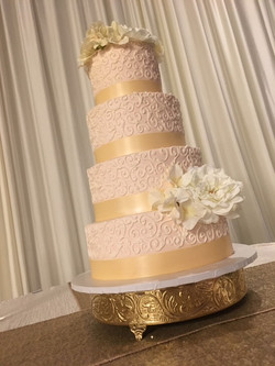 Danielle & Anthony champagne cake