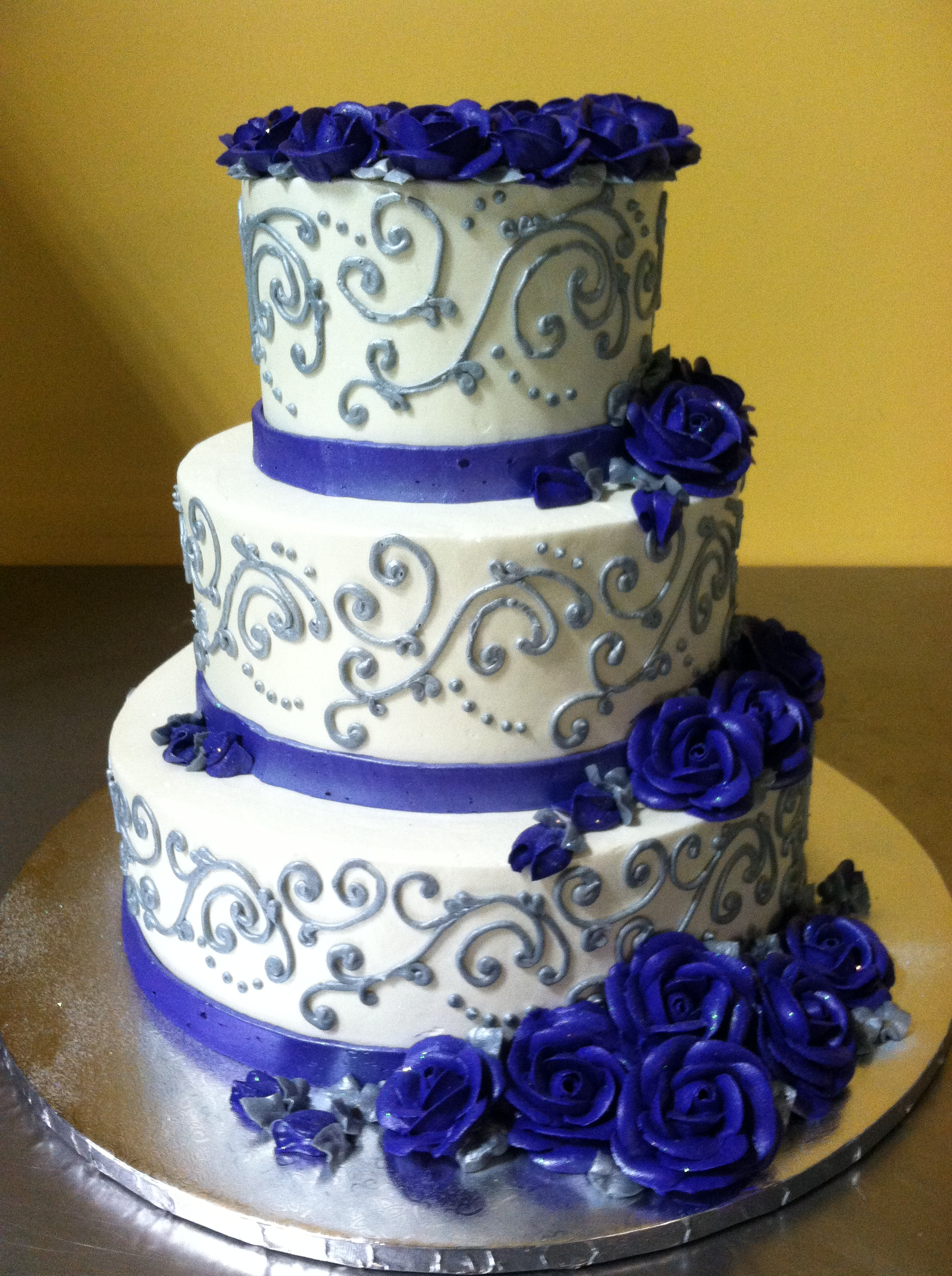 Royal Blue and Silver