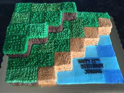 Minecraft sheetcake