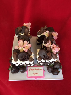 Trendy Cutout Number Cake