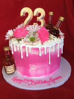 Pink Textures Hennessy with Drip